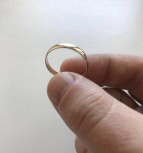 Обручальное кольцо (новое, белое золото)