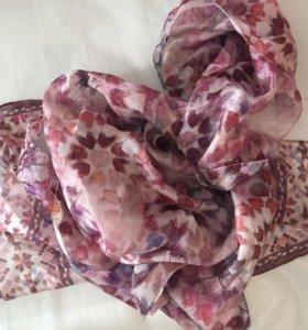 Шелковый шарфик и меховой воротник accessorize