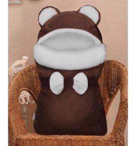 Конверт на выписку меховой Мишка бурый, CherryMom
