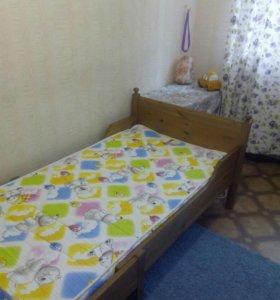 Кровать IKEA Лексвик/матрас Opmatek