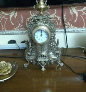 Часы каминные ручной работы из латуни