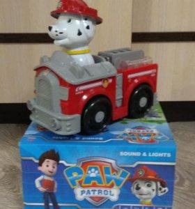 Пожарная машина щенячий патруль со светом и звуком