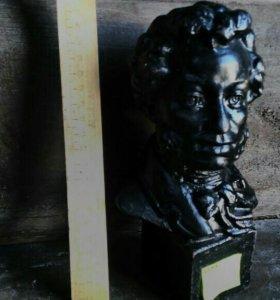 Пушкин чугун Свердловск 1960, скульптор Ермаков, о