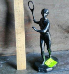 Теннисистка Касли 1972 чугун редкость люкс