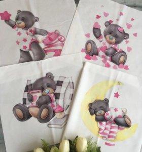 Панели для пошива бортиков в детскую кроватку