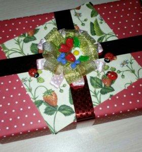 Подарок в подарочной коробочке на заказ!!!