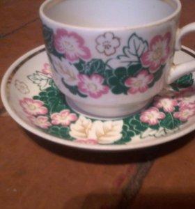 чайные чашки и блидца