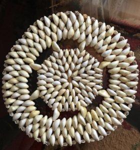 Салфетка из натуральных морских ракушек
