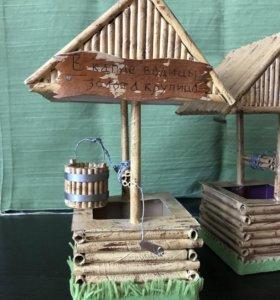 Колодец деревенский в миниатюре