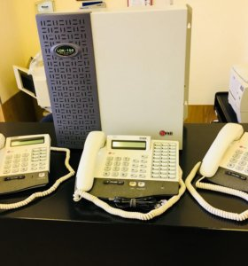 Офисная АТС LG LDK-100 + стационарные телефоны