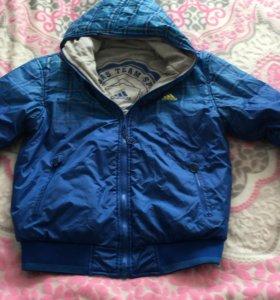 Куртка на мальчика 10-12 лет, двухсторонняя