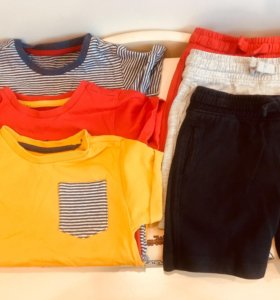 Футболка 3 шт и шорты 3 шт комплект