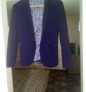 Пиджак светло синий