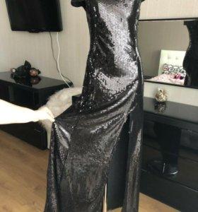 Платье в паетку 42-44р.