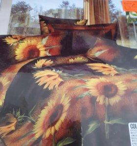 Комплект постельного белья с эффектом 3D.
