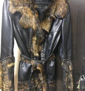 Кожаная куртка парка пиджак