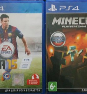 Диски на PS4 Minecraft Pocket Edition, Fifa 15