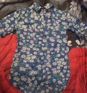 Рубашка под джинс, сбоку потайной замок