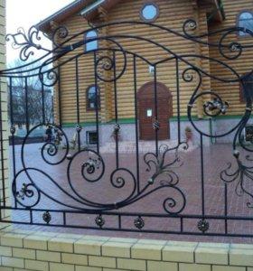 Забор кованый, художественная ковка