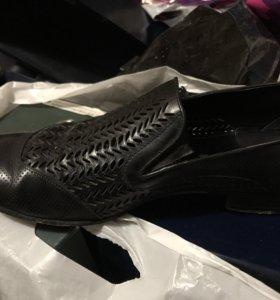 Мужские кожаные туфли 45 размера