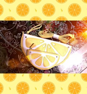 Сумка лето лимончики Новая🍋🍋🍋