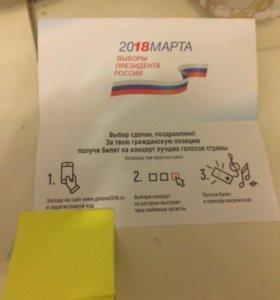 Билет с голосования/выборов