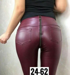 Модные кожаные леггинсы