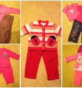 Пакет теплых комплектов одежды для девочки