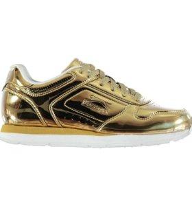 Кроссовки золото, новые