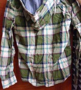 Мужская рубашка с капюшоном