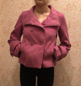 Розовое осеннее/весеннее пальто