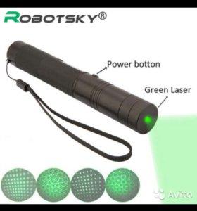 Мощная зелёная Лазерная указка 3 категории