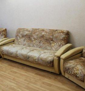 Уголок мягкой мебели (диван + 2 кресла)