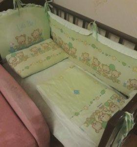 Детская кроватка поперечный маятник