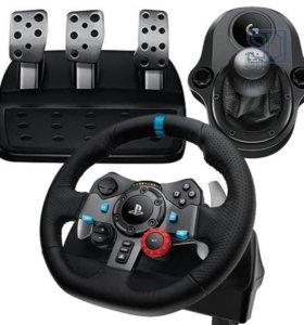 Игровой руль Logitech G29 Driving Force с педалями