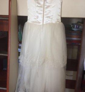 Платье на выпускной в детский сад+туфли