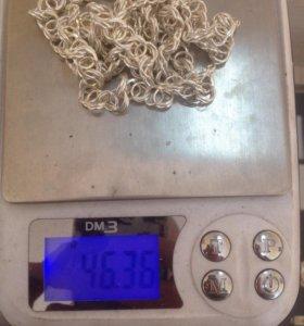 Серебряная цепь арабского плетения