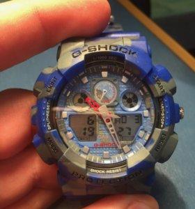 G-Shock сине-серый камуфляж (хаки)