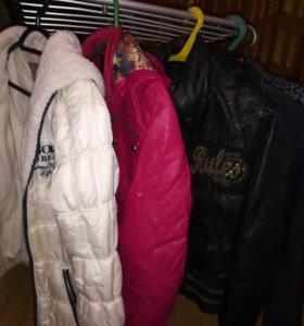 3 куртки на девочку 9-12 лет, 2 пиджака