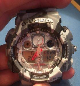 G-Shock Чёрно-белый камуфляж (хаки)