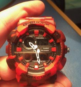 G-Shock Красно-чёрный камуфляж (хаки)