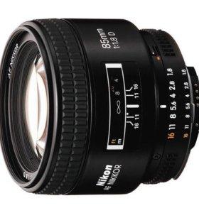 Объектив nikon af nikkor 85mm f/1.8d