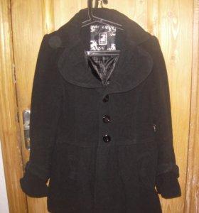 Пальто черное новое в стиле беби долл