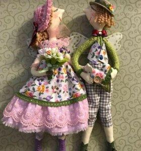 Куклы-кофеюшки для декора