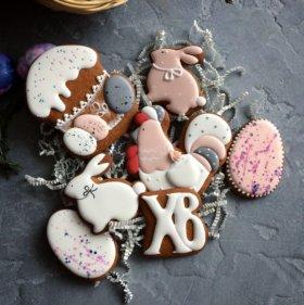 Имбирное печенье на праздники пасхи