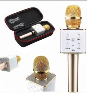 Громкий караоке микрофон Q7