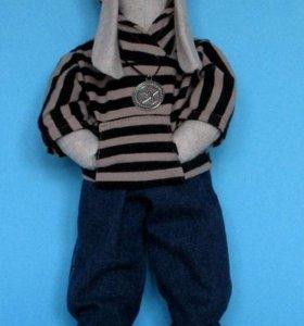 Заяц Егор в свитшоте (кукла интерьерная / Тильда)