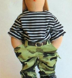 Заяц Военный (кукла интерьерная / Тильда)