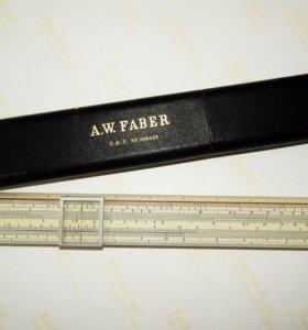 Антикварная логарифмическая линейка A.W. Faber