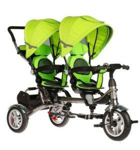 Новый велосипед для двойни